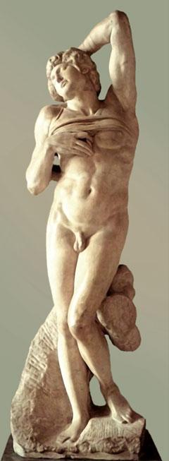 L'Esclave mourant de Michel-Ange, exposé au Louvre