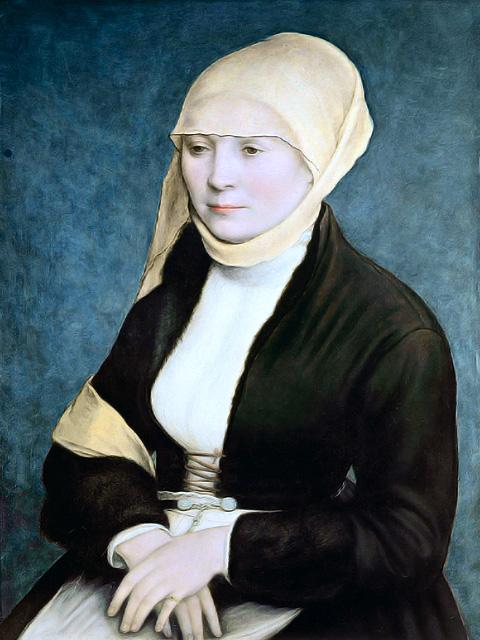 Portrait de Femme du sud de l'Allemagne, autrefois attribué à Hans Holbein le Jeune
