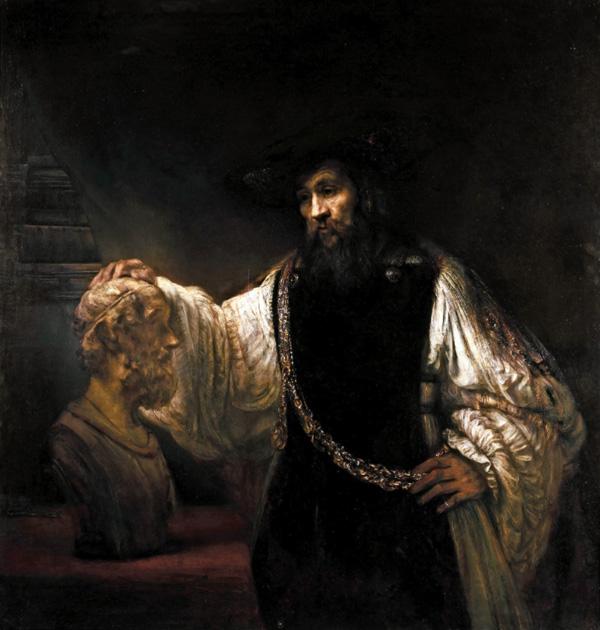 Aristote contemplant le buste d'Homère, par Rembrandt