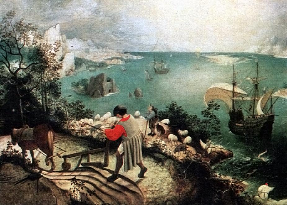 La Chute d'Icare, autrefois attribuée à Pieter Brueghel l'Ancien