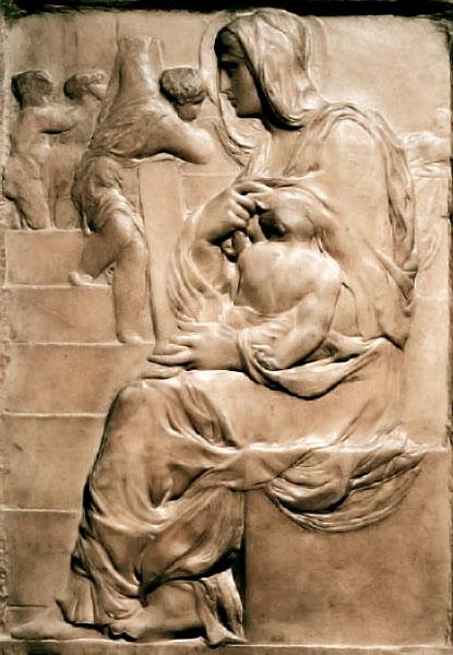 La Madonna alla Scala, première oeuvre conservée de Michel-Ange