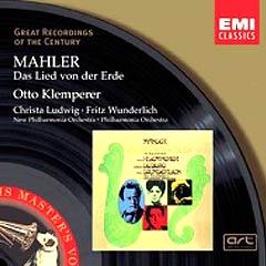 L'enregistrement du Chant de la Terre par Otto Klemperer, avec Ludwig et Wunderlich
