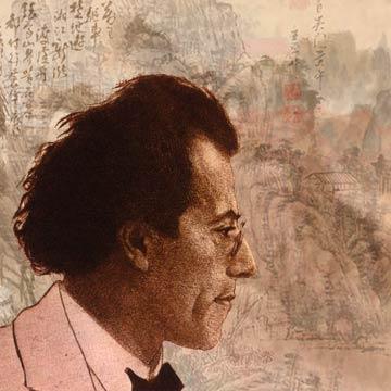 Gustav Mahler d'après Orlik, illustration de Mikka Saadi