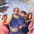 Détail du Parnasse, fresque de Raffaello Sanzio