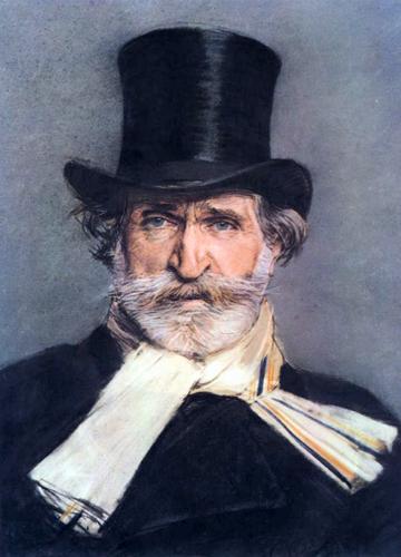 Un portrait de Verdi, pastel de Boldini