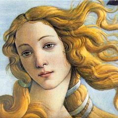 Le visage d'Aphrodite, par Botticelli