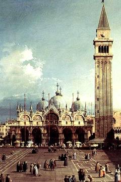 La basilique San Marco et le Campanile, par Canaletto