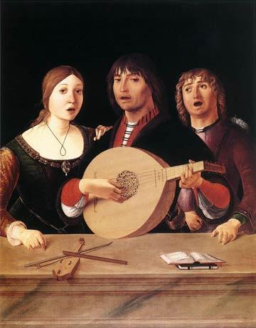 Musiciens, par Lorenzo Costa