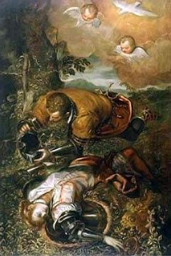 Clorinde vaincue par Tancrède, par Le Tintoret