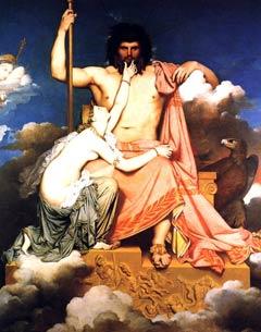 Zeus et Thétis, par Ingres