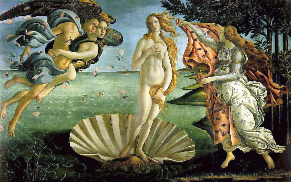 La Naissance de Vénus, vers 1485, par Botticelli