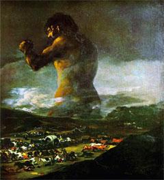 Le colosse, par Goya