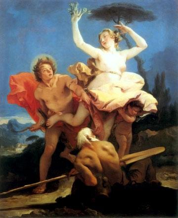 Apollon et Daphné, par Tiepolo