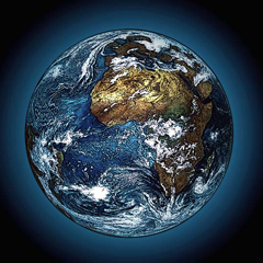 Vue sur la planète terre par Hugo Heikenwaelder