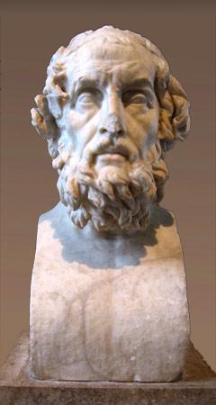 Homère, buste Caetani, musée du Louvre