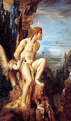 Prométhée par Gustave Moreau