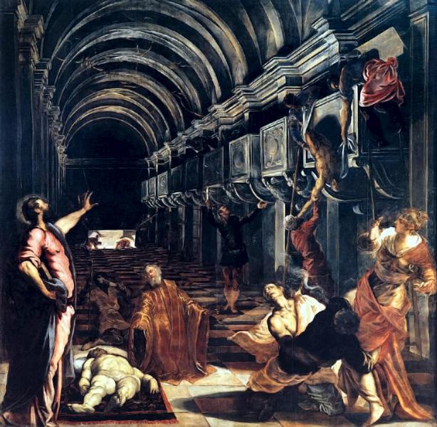 La Découverte du corps de Saint Marc, par Tintoretto (Le Tintoret)
