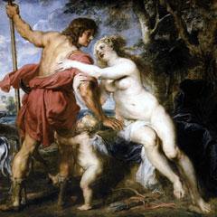 Détail de Vénus et Adonis, par Rubens