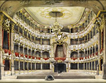 Le théâtre Cuvilliès à Munich