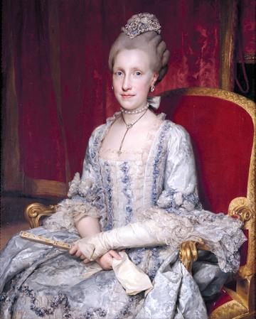L'impératrice Marie-Louise, à l'époque où elle était encore grande-duchesse de Toscane